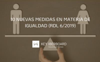 10 nuevas medidas en materia de igualdad (RDL 6/2019)