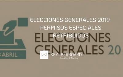 Elecciones generales 2019 – Permisos especiales retribuidos