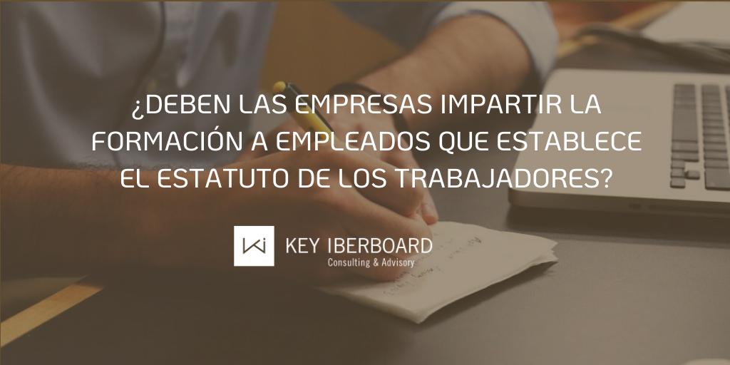 ¿Deben las empresas impartir la formación a empleados que establece el Estatuto de los Trabajadores?